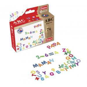 Jeujura - 8972 - Magnets abc et chiffres - coffret de 76 caractères (218686)