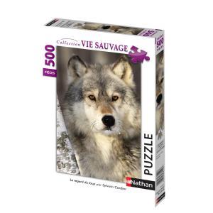 Nathan puzzles - 87142 - Puzzle 500 pièces - Nathan - Le regard du loup (219504)