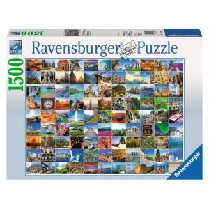 Ravensburger - 16319 - Puzzle 1500 pièces - Les 99 plus beaux endroits du monde (219626)