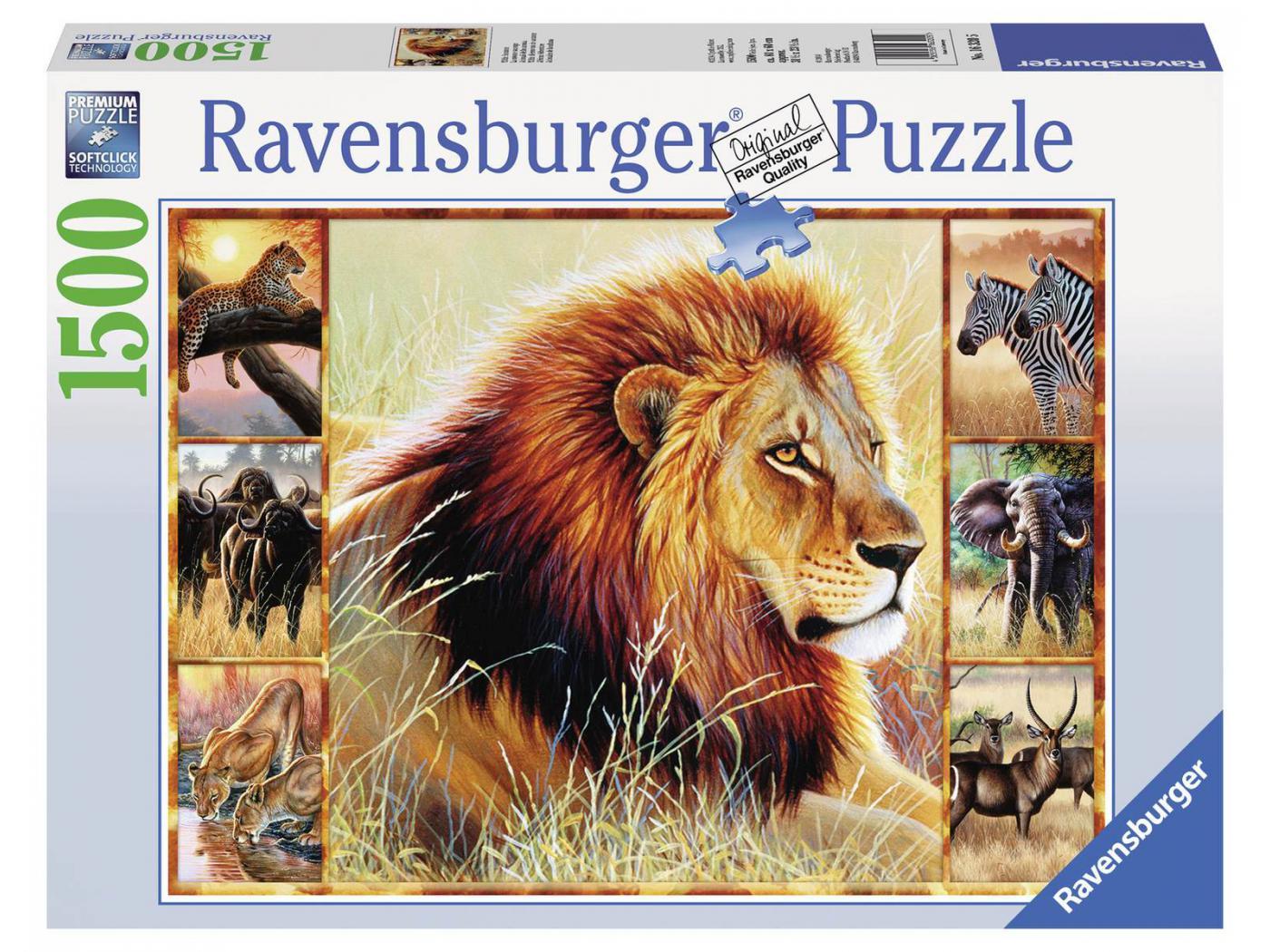 ravensburger puzzle 1500 pi ces la savane sauvage. Black Bedroom Furniture Sets. Home Design Ideas