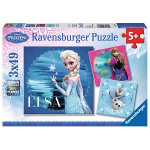 Ravensburger - 09269 - Puzzle 3 x 49 pièces - Elsa, Anna et Olaf / Frozen (219702)