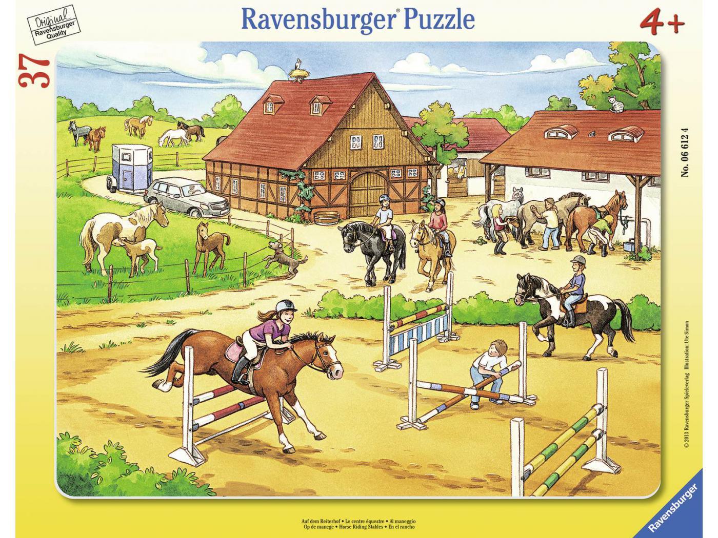 ravensburger puzzle cadre 30 48 pi ces le centre questre. Black Bedroom Furniture Sets. Home Design Ideas