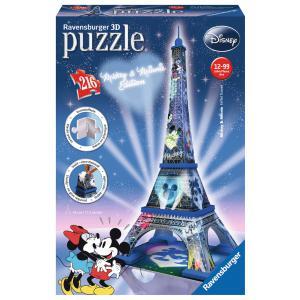 Ravensburger - 12570 - Puzzle 3D Building 216 pièces - Tour Eiffel - Mickey et Minnie (219962)