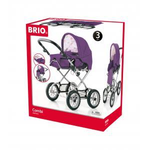 Brio - 38913 - Poussette ''combi 3 en 1'' prune - Age 3 ans + (221024)