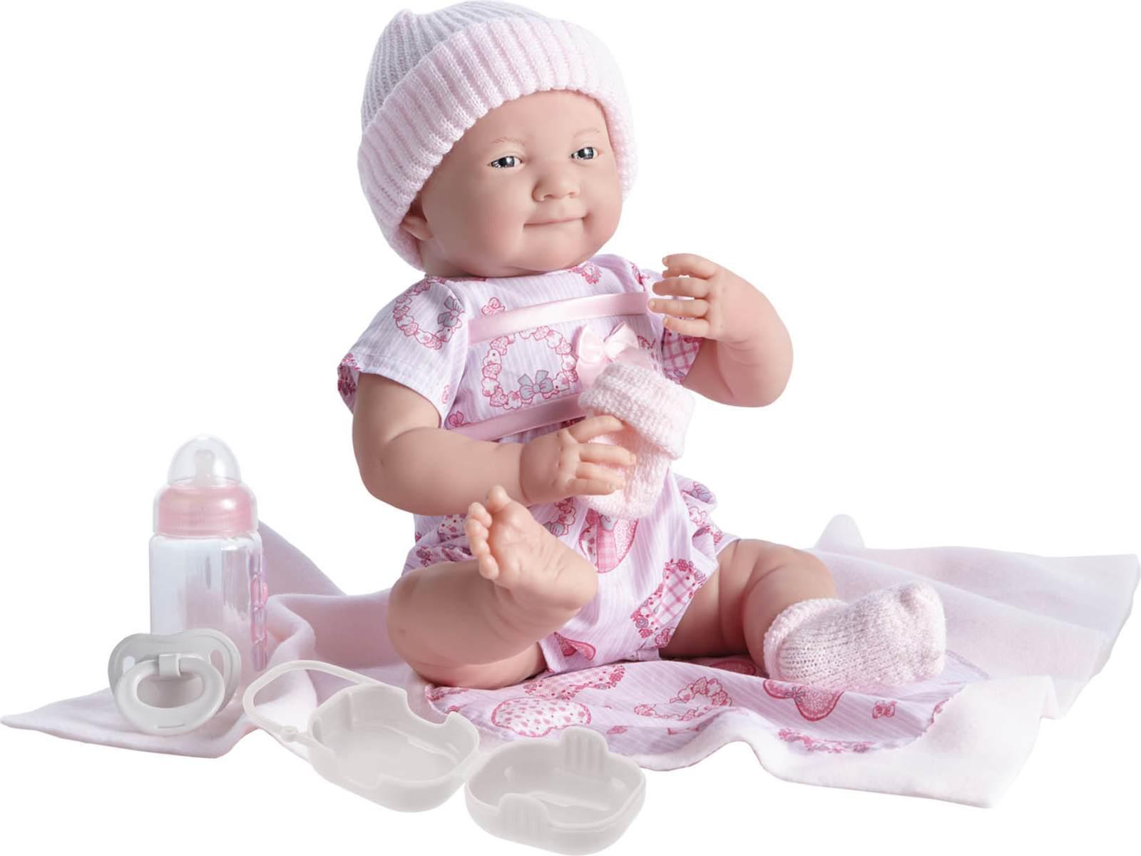 Berenguer , 18781 , Poupon Newborn nouveau né avec accessoires roses 39 cm