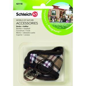 Schleich - 42118 - Couverture + licole pour figurine cheval (221528)
