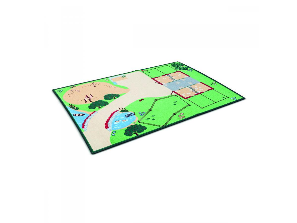 Schleich tapis de jeu pour figurines la vie la ferme - Cadre pour tapis de sol ...