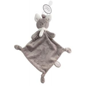 Dimpel - 822159 - Doudou chat attache-tétine Cleo beige gris & blanc (225152)