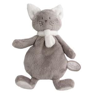 Dimpel - 822172 - Peluche chat crepe Cleo beige gris & blanc (225154)