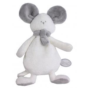 Dimpel - 822445 - Peluche souris crepe Mona blanc & gris clair (225168)