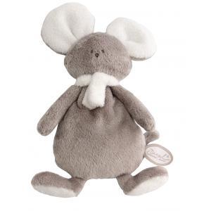 Dimpel - 822484 - Peluche souris crepe Mona beige gris & blanc (225174)