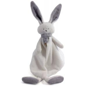 Dimpel - 822770 - Doudou lapin  Nina blanc & gris clair (225188)