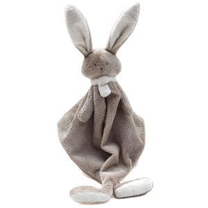 Dimpel - 822809 - Doudou lapin NINA beige gris & blanc (225194)