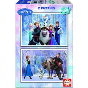 Educa - 15767 - Puzzle Frozen 2X100 pièces Carton (225704)