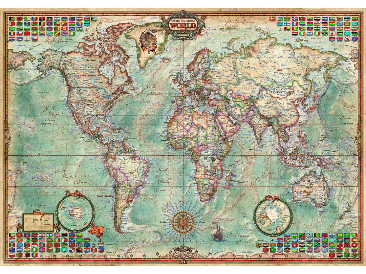 Favori Educa - Puzzle 1500 le monde, carte politique PP05