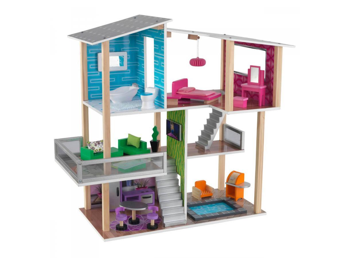 Kidkraft maison de poup es contemporaine for Maison moderne kidkraft