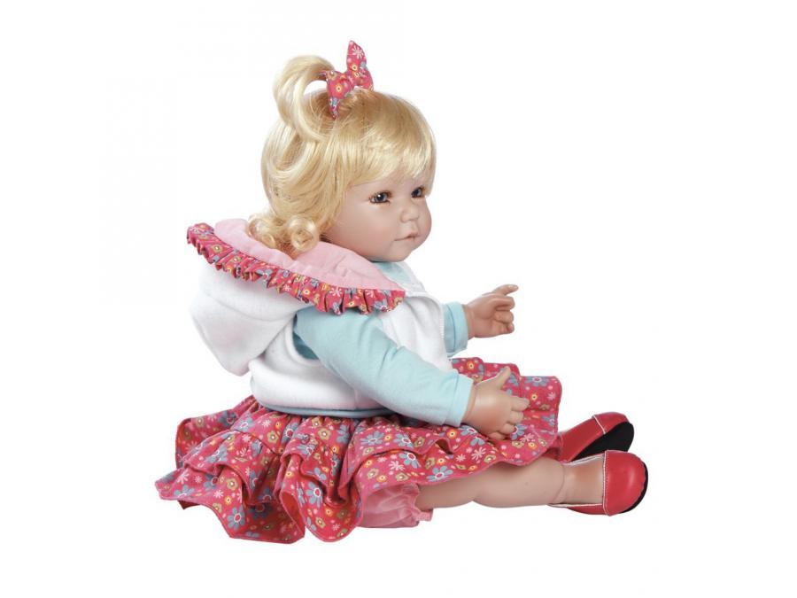 adora poup e blonde jupe rose fleurie 50 cm. Black Bedroom Furniture Sets. Home Design Ideas
