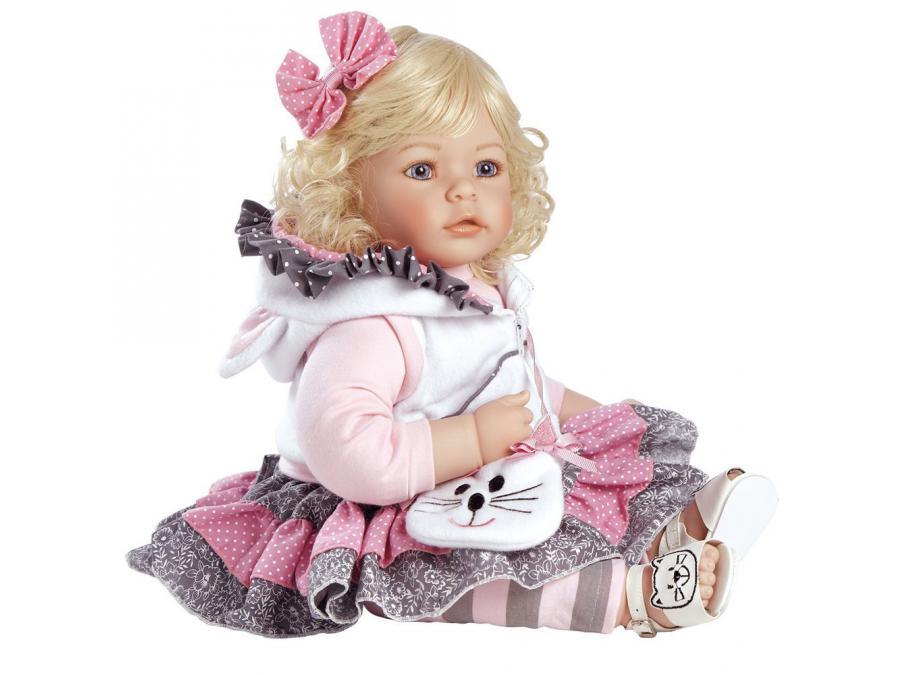 adora poup e blonde tenue chat 50 cm. Black Bedroom Furniture Sets. Home Design Ideas