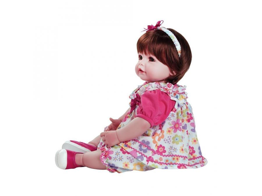 adora poup e brune robe fleurie 50 cm. Black Bedroom Furniture Sets. Home Design Ideas