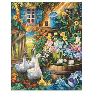 Schipper - 609130662 - Peinture aux numeros - Oies dans le jardin - Cadre 40/50 (229658)