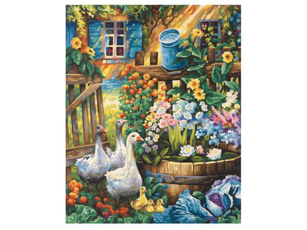 schipper peinture aux numeros oies dans le jardin cadre 40 50. Black Bedroom Furniture Sets. Home Design Ideas