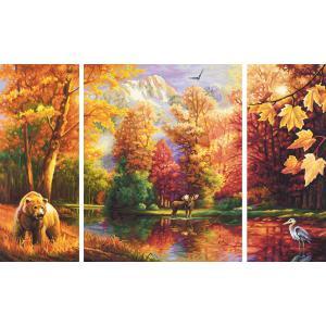 Schipper - 609260650 - Peinture aux numeros - Ete indien - triptyque (229682)