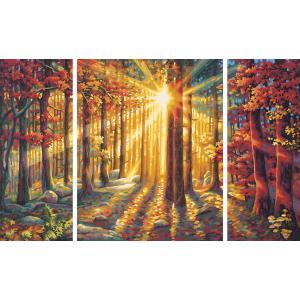 Schipper - 609260688 - Peinture aux numéros - Forêt d 'automne - Tryptique (229688)