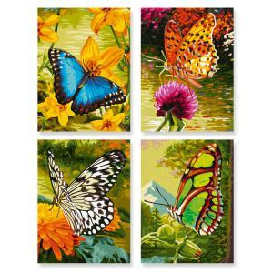 Schipper - 609340628 - Peinture aux numeros - Papillons - Cadre 18 x 24 cm  (229694)