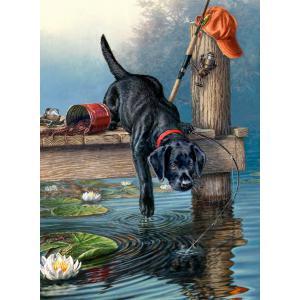 Mammut - 107002 - Peinture aux numéros - 23 x 34 x 2,5 cm - Collection artistes - chien (236544)