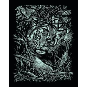 Mammut - 136042 - Carte à gratter argentée - 21 x 31 cm - bébé tigre (236768)