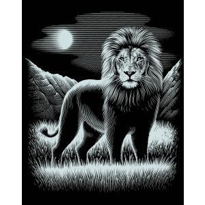 Mammut - 136046 - Carte à gratter argentée - 21 x 31 cm - lion (236774)
