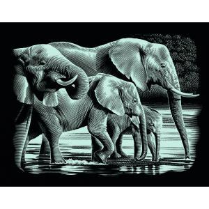 Mammut - 137001 - Carte à gratter argentée - 26,5 x 23 cm - éléphant (236778)