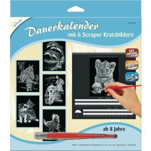 Mammut - 143001 - Calendrier carte à gratter 6 dessins - animaux (236826)