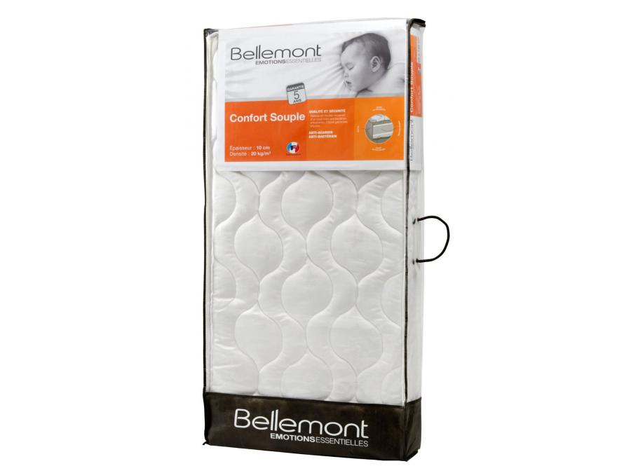 bellemont matelas 70 x 140 confort souple 11 cm blanc. Black Bedroom Furniture Sets. Home Design Ideas