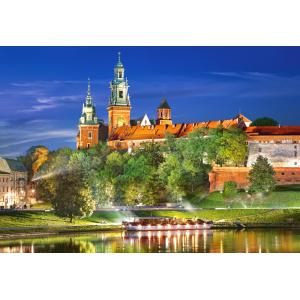 Castorland - 103027 - Puzzle 1000 pièces - Wawel Castle by night, Poland (259546)