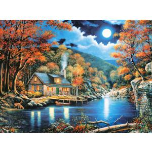 Castorland - 200504 - Puzzle 2000 pièces - Cabin by the Lake (259582)