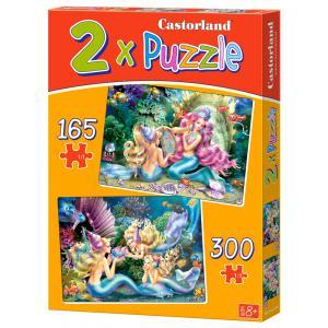 Castorland - 021109 - Puzzle x 2 - 165-300 pièces - beautiful mermaids (259918)
