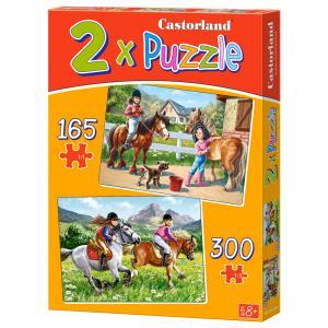 Castorland - 021079 - Puzzle x 2 - 165-300 pièces - riding horses (259920)
