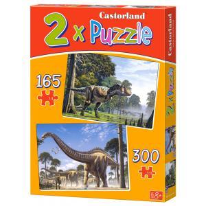 Castorland - 021147 - Puzzles x 2 - 165-300 pièces - dinosaurs (259922)