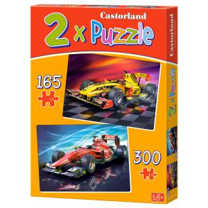 Castorland - 021123 - Puzzles x 2 - 165-300 pièces - racing cars (259924)