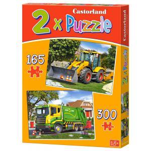 Castorland - 021130 - Puzzles x 2 - 165-300 pièces - work trucks (259926)