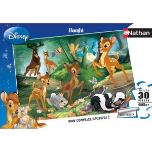 Nathan puzzles - 86281 - Puzzle 30 pièces - Nathan - Promenade en famille / Bambi 2 (2600)