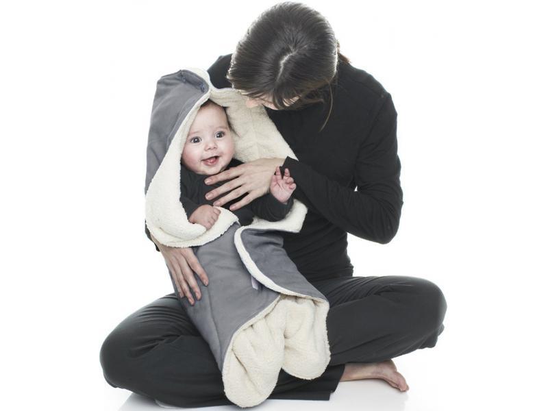 couverture bébé wallaboo Wallaboo   COUVERTURE nomade/ Nid d'ange EXTRA DOUCE (hiver)GRIS couverture bébé wallaboo
