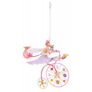 L'oiseau bateau - TRI0027 - Mobile Triplette papillon rose (263392)