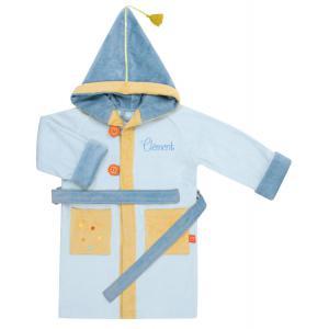 L'oiseau bateau - PEG0005 - Peignoir 4/6 ans Dragon Bleu personnalisable (263526)