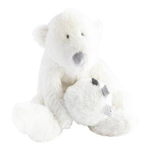 Dimpel - 883155 - Peluche ours polaire bébé musical P'timo blanc (264714)