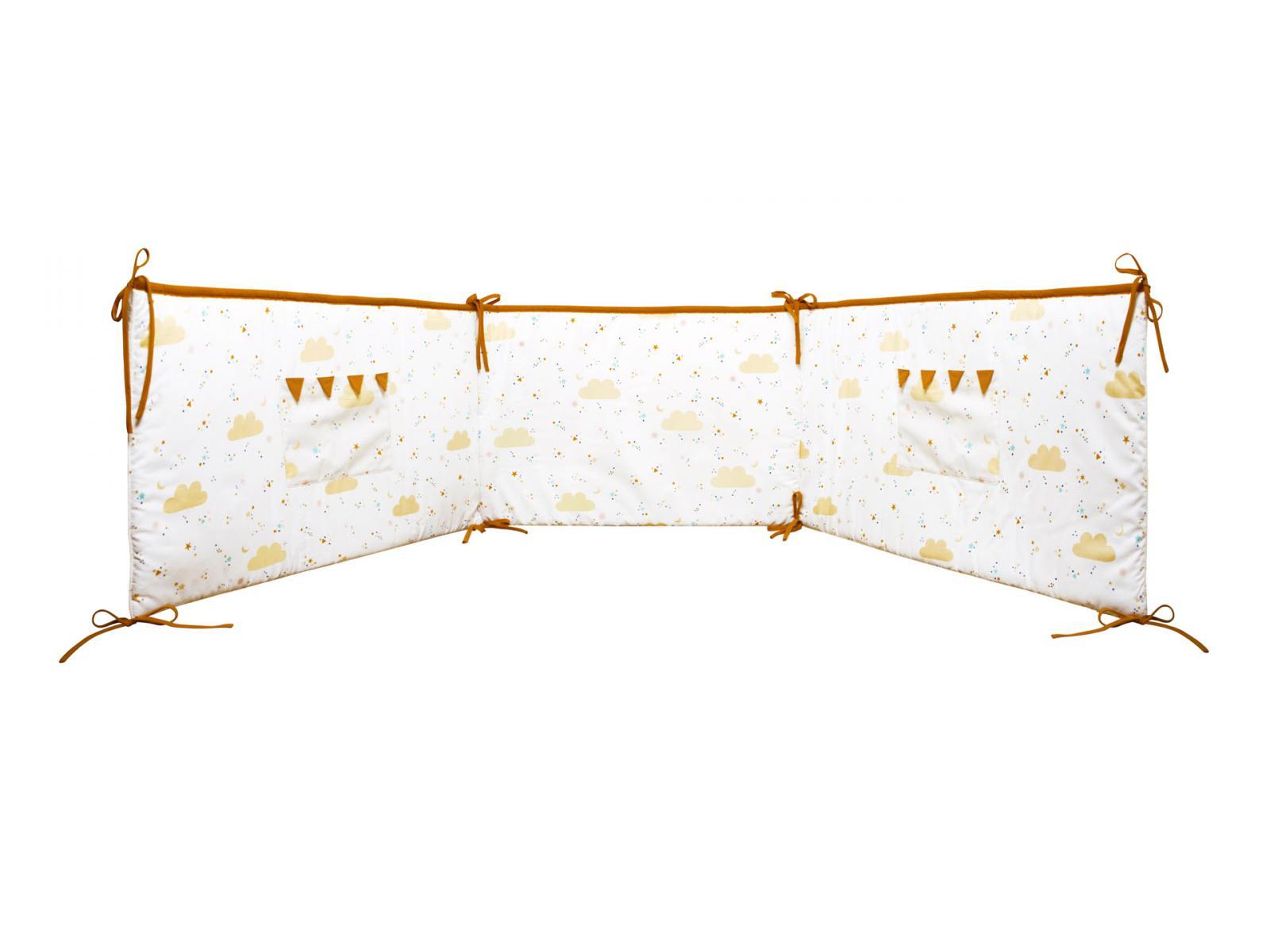 trousselier tour de lit etoiles 210 x 40 cm. Black Bedroom Furniture Sets. Home Design Ideas