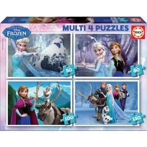 Educa - 16173 - Puzzle Multi 4 in1 la Reine des Neiges (265596)