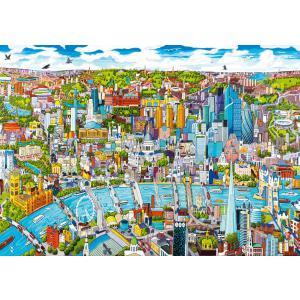 WentWorth - 590205_W - Puzzle 250 pièces - Londres, vue du ciel - dessin (266198)