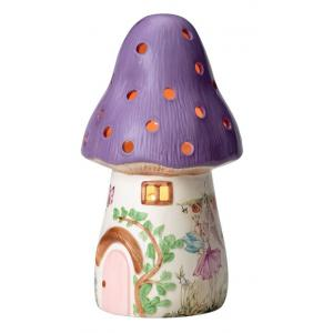 White Rabbit England - 01DL - Veilleuse terre cuite - gros champignon violet (266960)